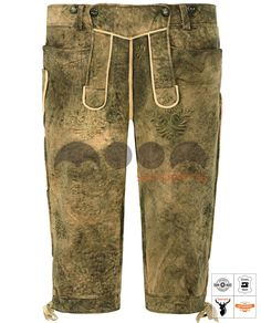 Salzburg Trachten-Kniebundhose Schwarz Art. #MnS-60-0092929 Length: Knee bound (Kniebund) Material: Deer skin Buttons: Deer horn DESCRIPTION Salzburg Trachten Kniebundhose for men by Moon Sports in old black. The high-quality leather pants are characterized by the creamy surface and noble details. Embossed embroidery in green and light brown harmonize perfectly with the contrasting parts. A buttoned bib and drawstrings on the back and leg endings offer high wearing comfort. Three....(cont'd) Lederhosen, Deer Skin, Salzburg, Sport, Gradient Color, Parachute Pants, Contrast, Leather Pants, Legs