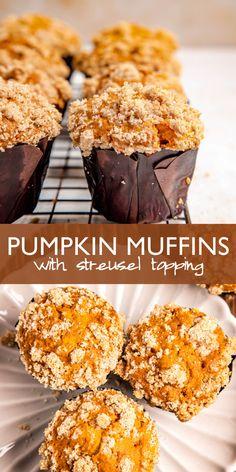 Fall Breakfast, Egg Recipes For Breakfast, Pumpkin Breakfast, Dessert Recipes, Cupcake Recipes, Breakfast Ideas, Cupcake Cakes, Snack Recipes, Cupcakes