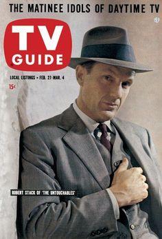 "TV GUIA. Año 1960. Robert Stack es Eliot Ness, protagonista de ""Los Intocables"""