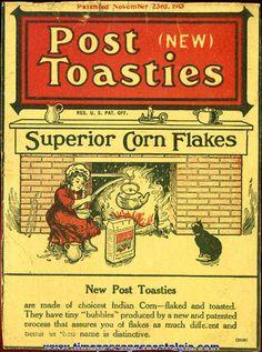 Vintage Cereal Boxes for Sale