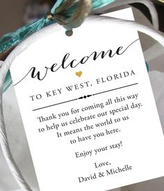 Set Of 10 Gift Tags For Wedding Hotel Welcome Bag Destination