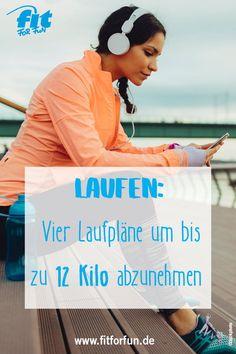 Mit diesen vier Laufplänen kann jeder, egal welchen Fitnesslevels, bis zu 12 Kilo abnehmen. #laufen #joggen #abnehmen #diät #Laufplan