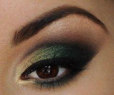 Green looks amazing on dark brown eyes