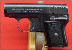 Mauser WTP 1 Vest Pocket Pistol. Caliber/Guage: .25 ACP . This Model WTP 1 was built from 1922 to 1937.