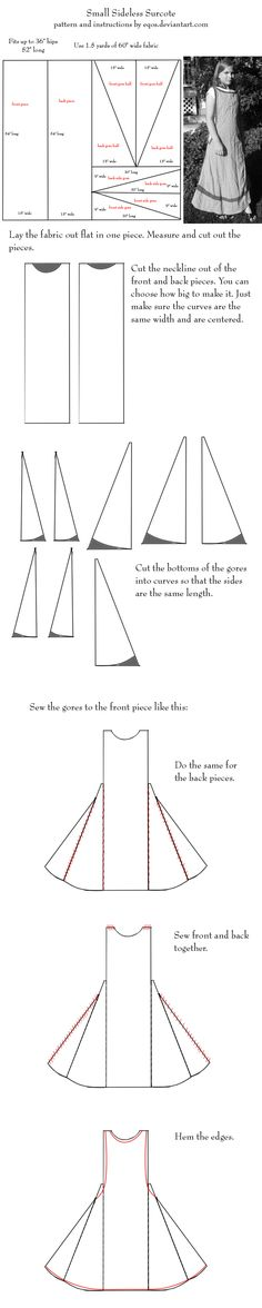 Pattern: small sideless surcot by eqos.deviantart.com on @DeviantArt