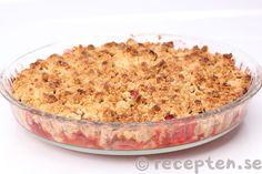 Rabarber och jordgubbspaj Macaroni And Cheese, Tart, Smoothies, Cheesecake, Food And Drink, Yummy Food, Sugar, Ethnic Recipes, Sweet