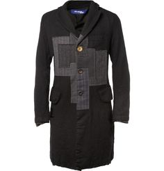 Junya WatanabeSlim-Fit Patchwork Wool Coat|MR PORTER