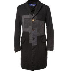 Junya WatanabeSlim-Fit Patchwork Wool Coat MR PORTER