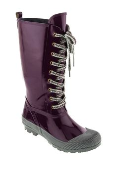 Lace-Up Rain Boot -- these I might actually be able to wear on my prosthetic leg
