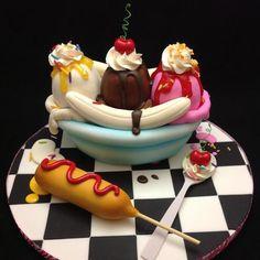 By Andrea Sullivan.      Anita Downing - http://pinterest.com/adowning2041/cakes/ Tortas decoradas, cupcakes, Diseño hogar, Fiestas, Postres, etc