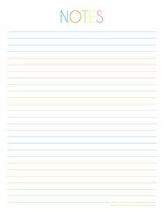 To-Do & Notes Printables