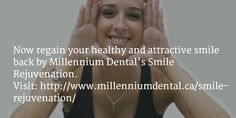 Get a beautiful #smile with smile rejuvenation procedure which makes your teeth beautiful and strong. If you want a more youthful appearance, contact us at 403 236 4443.