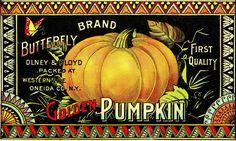 Vintage Halloween Clip Art - Pumpkin Label