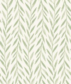 Sample Willow Wallpaper in Green from the Magnolia Home Vol. 3 Collection by Joanna Gaines