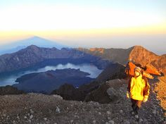 Sunrise at Top of Mount Rinjani Lombok Indonesia