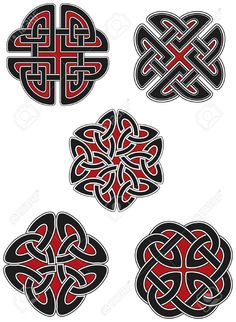 Set of celtic design elements Stock Vector