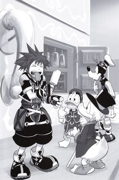 Sora tries sea saly ice cream for the first time (look at Donald, Goofy, and Scrooge's faces XD)