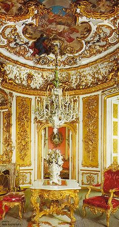 ~Linderhof palace dining room | The House of Beccaria