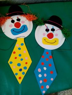 St Pattys Day Craft For Kids – preschool crafts Clown Crafts, Circus Crafts, Carnival Crafts, Summer Crafts, Diy And Crafts, Crafts For Kids, Arts And Crafts, Paper Christmas Decorations, Christmas Crafts