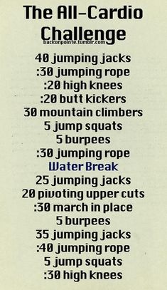 Another at-home Cardio workout