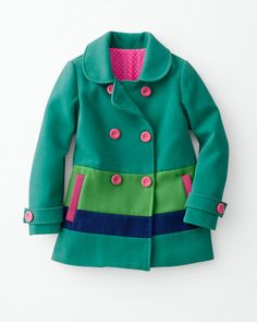 Jubilee Pea Coat - Girls If only it was cold where Katy is. Toddler Girl Outfits, Kids Outfits, Cute Coats, Baby Coat, Little Fashionista, Kid Styles, Girly Outfits, Autumn Winter Fashion, Kids Fashion