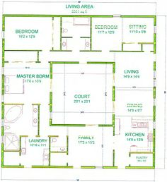 Easy Home Plans long narrow house with possible open floor plan | for the home