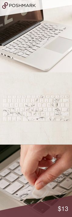 """UO White Marble Keyboard Cover Instantly spruce up your laptop with this beautiful keyboard cover.  Compatible with 13"""", 15"""", 17"""" MacBook Pro; 13"""", 15"""", 17"""" MacBook Pro Retina; 13"""" MacBook Air; and 13"""" MacBook. Urban Outfitters Other"""