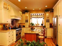 french country kitchen with kitchen furniture