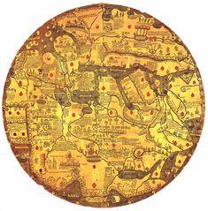 """Mappa mundi Vatican Library Ms. Borg. lat. XVI (about 1430), also known as """"Tavola di Velletri"""