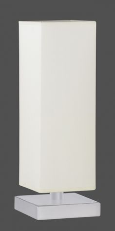 5914 - TRIO - dotyková stolová lampa - biely textil