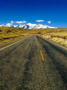 Road to Sorata, Illampu Mountain, Bolivia