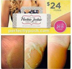 PERFECTLY POSH! Heebie Jeebie FOOT PEEL KIT... get serious about getting your feet ready for summer! www.perfectlyposh.com/lovemyposh985