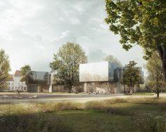 Berrel Berrel Kräutler Architekten | Wettbewerb Bauhausmuseum, Dessau | Visualisierung maaars.ch