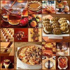 I <3 Fall Food! Reception idea: Thanksgiving Food Buffet including Apple & Pumpkin Pies, Fall flavored cookies, Hot Apple Cider & Fall cake flavors. :)