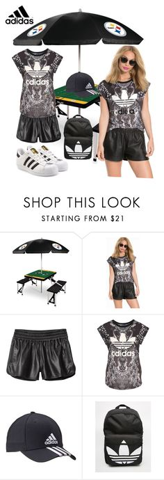 """Adidas"" by mexarchopoulou ❤ liked on Polyvore featuring Picnic Time, adidas, adidas Originals and 10 Crosby Derek Lam"
