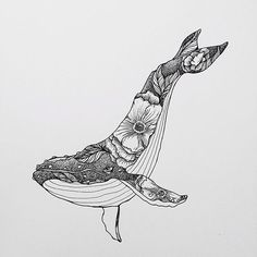 Whale Drawing IdeaYou can find Art drawings and more on our website. Art And Illustration, Illustration Inspiration, Whale Tattoos, Killer Whale Tattoo, Killer Whales, Ocean Sleeve Tattoos, Whale Art, Desenho Tattoo, Pen Art