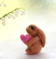 sweet needle felted Easter bunny decorations | Needle Felted Bunnies Easter Bunny Present Bunny Nursery