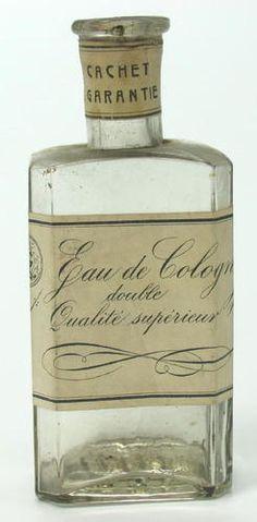 ANTIQUE EAU DE COLOGNE GLASS BOTTLE CIVIL WAR ERA
