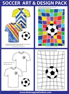This fun 41 page Kids Soccer/Football DOWNLOAD creative art and colouring activity pack for kids is great for engaging kids in fun soccer