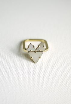 Fox ring - Mother of Pearl