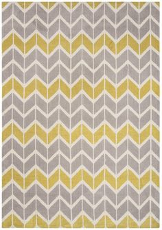 Arlo Chevron Rugs Lemon Grey with FREE DELIVERY. Arlo Chevron Rugs Lemon Grey come with a contemporary design and made with luxuriously soft micro-fibre yarns in eye-catching geometric patterns Dark Carpet, Shag Carpet, Modern Carpet, Modern Rugs, Chevron Rugs, Chevron Patterns, Grey Chevron, Geometric Rug, Home