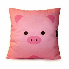12 x 12 Pink Pillow Animal Pillow Kids Cushion Cotton by mymimi This Little Piggy, Little Pigs, Pink Pillows, Throw Pillows, Owl Room Decor, Silvester Diy, Tout Rose, Piggly Wiggly, Mini Pigs