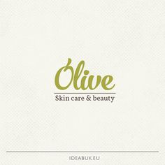 Pre made logo, Olive logo, Skin care, Nature logo, Handwritten logo…