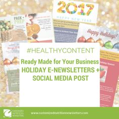 Holiday Healthy Content Bundle for e-newsletters - Readymade for ...