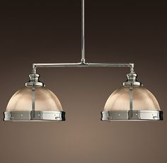 Clemson classic pendant restoration hardware polished nickel 379 and this one over the kitchen table clemson double pendant restoration hardware aloadofball Images