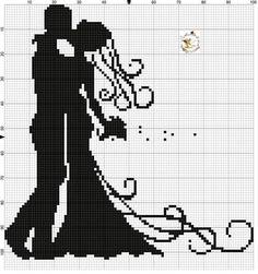 Cross Stitch Love, Cross Stitch Pictures, Cross Stitch Animals, Cross Stitch Flowers, Wedding Cross Stitch Patterns, Cross Stitch Designs, Square Drawing, Fillet Crochet, Crochet Wedding