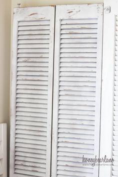 DIY:: Distressed Shutters (with Candle Wax) !! -Tutorial