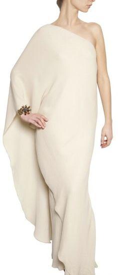 LAnvin Washed Silk Crepe Long Dress