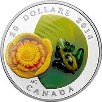 2014 Water-lily and Venetian Glass Leopard Frog Silver Commemorative Mintage, Photos, Specifications, and Where to Buy. Canadian Things, Canadian Artists, Canada, Canadian Gold Coins, Venetian Glass, Venetian Mirrors, Murano Glass, Small Turtles, Gold And Silver Coins