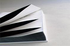 GRAFIKUM / Studio fur Gestaltung, French fold pages, black on the inside.